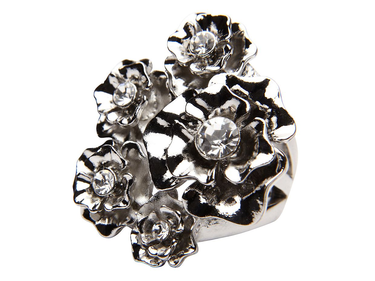 Mimco Lost city flower ring, Jet
