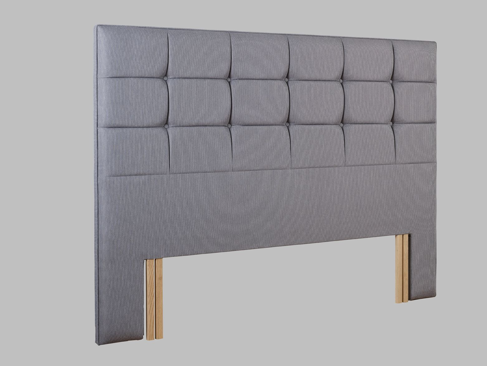 Grace double headboard euro fitting, Blue
