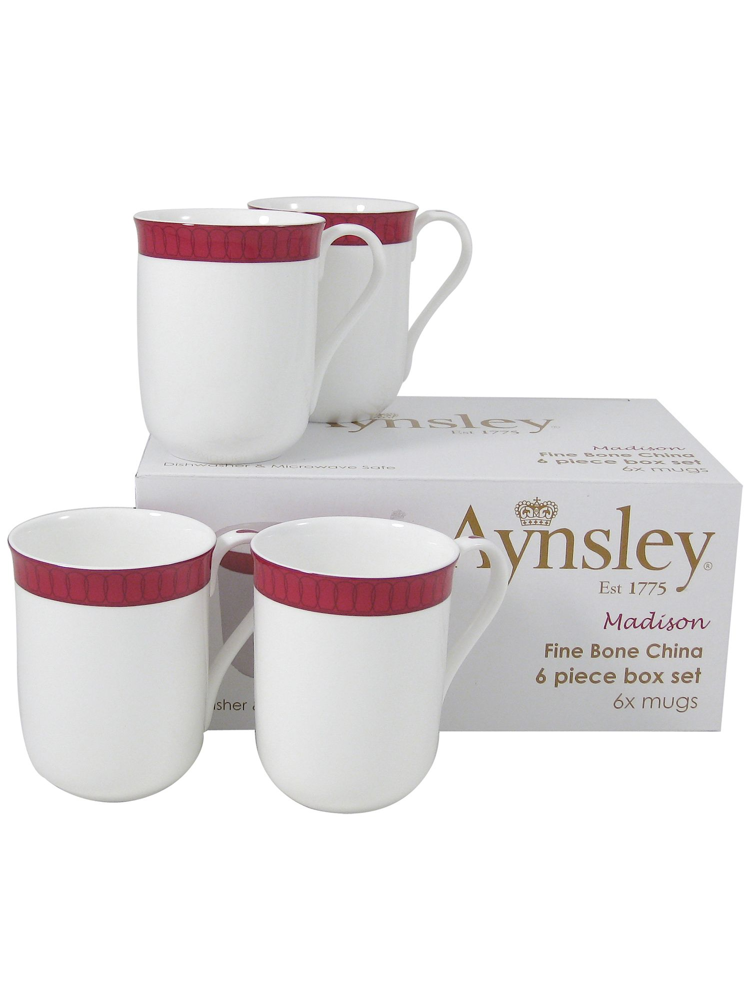 Aynsley Aynsley Madison six mugs set