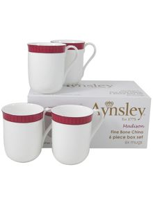 Aynsley Madison six mugs set