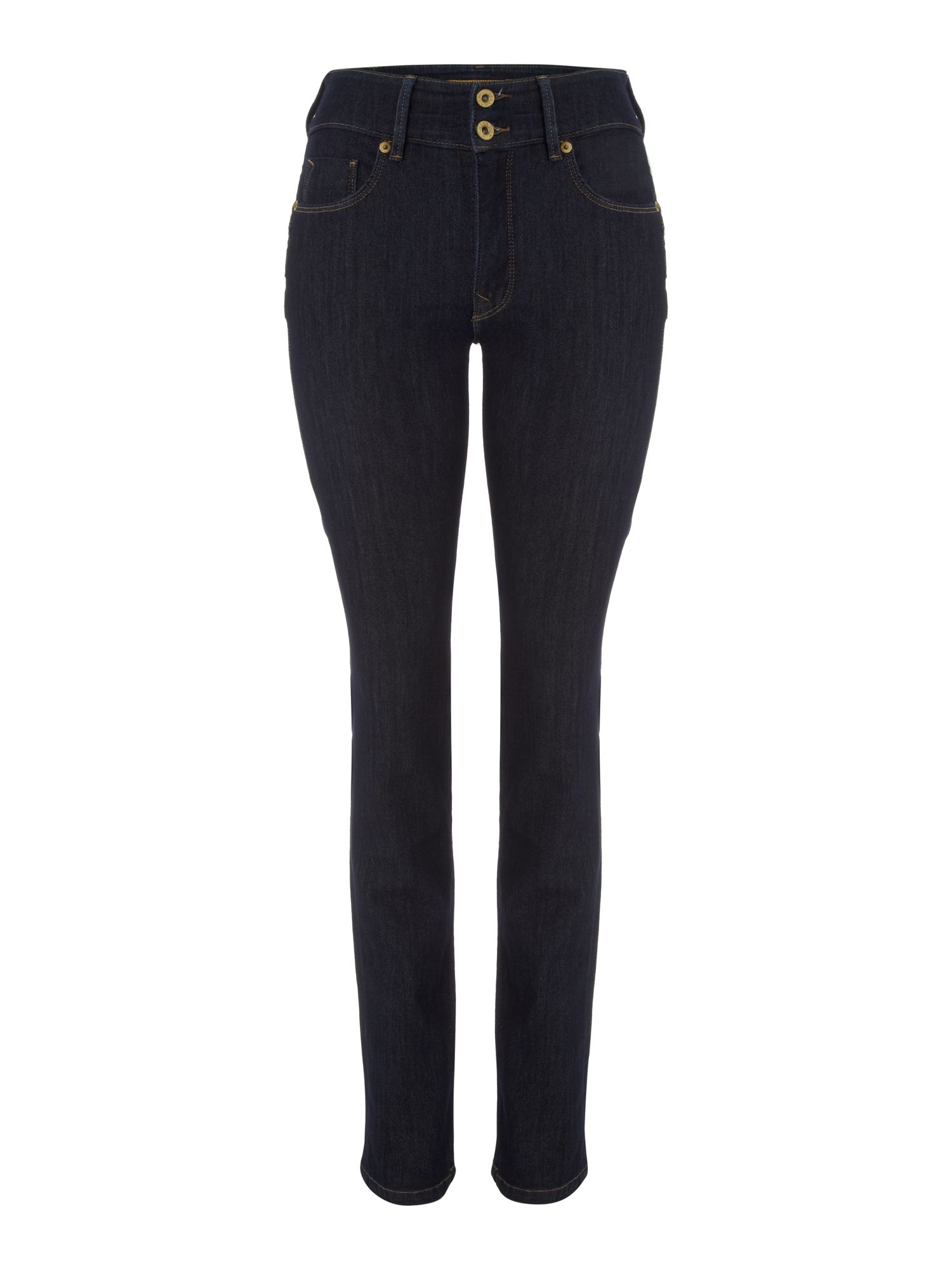 Secret Push-In straight jeans in Rinse