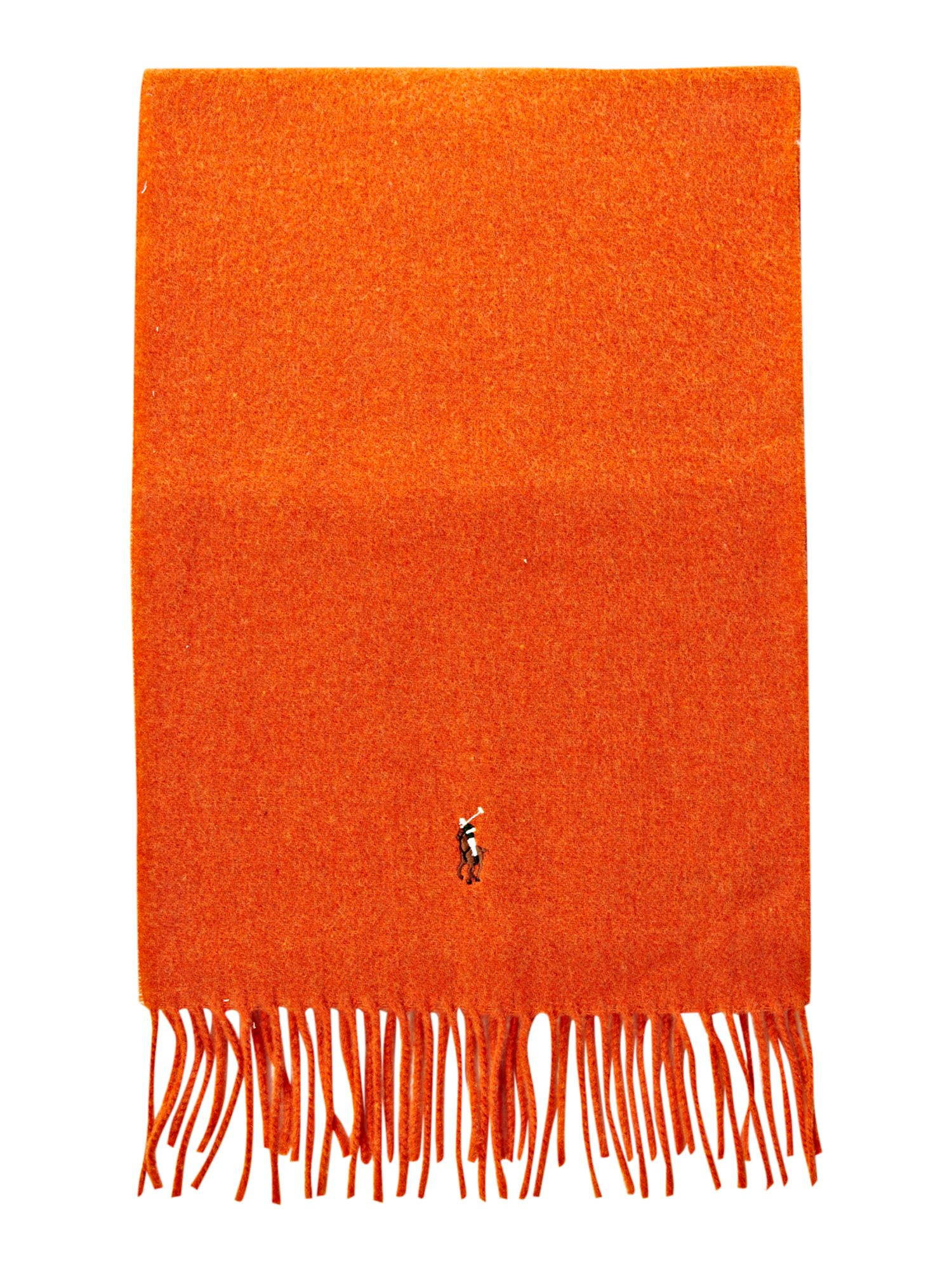 Lambswool scarf with pony player logo