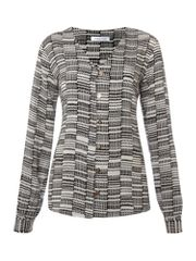 Selected Long sleeved printed shirt