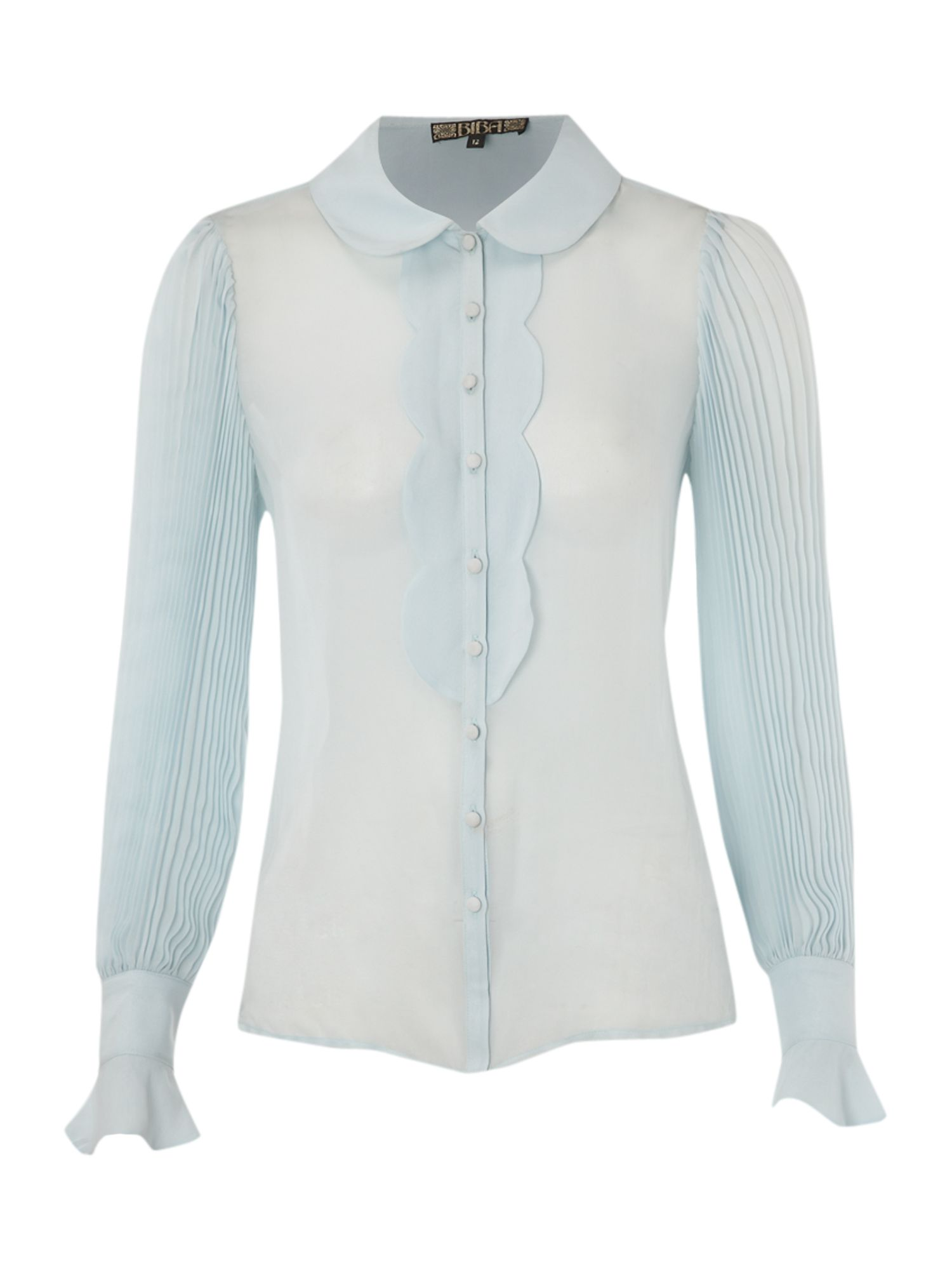Biba Womens Biba Pleat detail silk blouse, Light product image