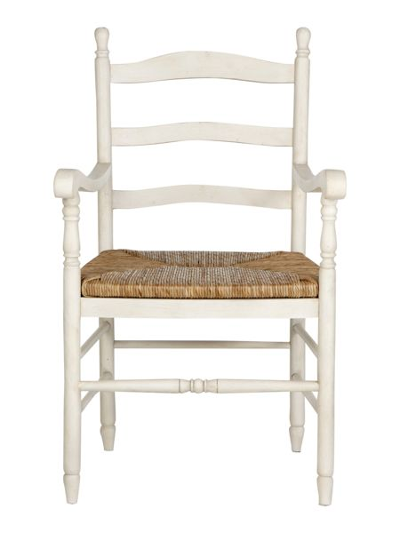 Shabby Chic Addison carver dining chair pair
