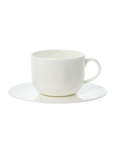 Linea Simplicity white teacup and saucer