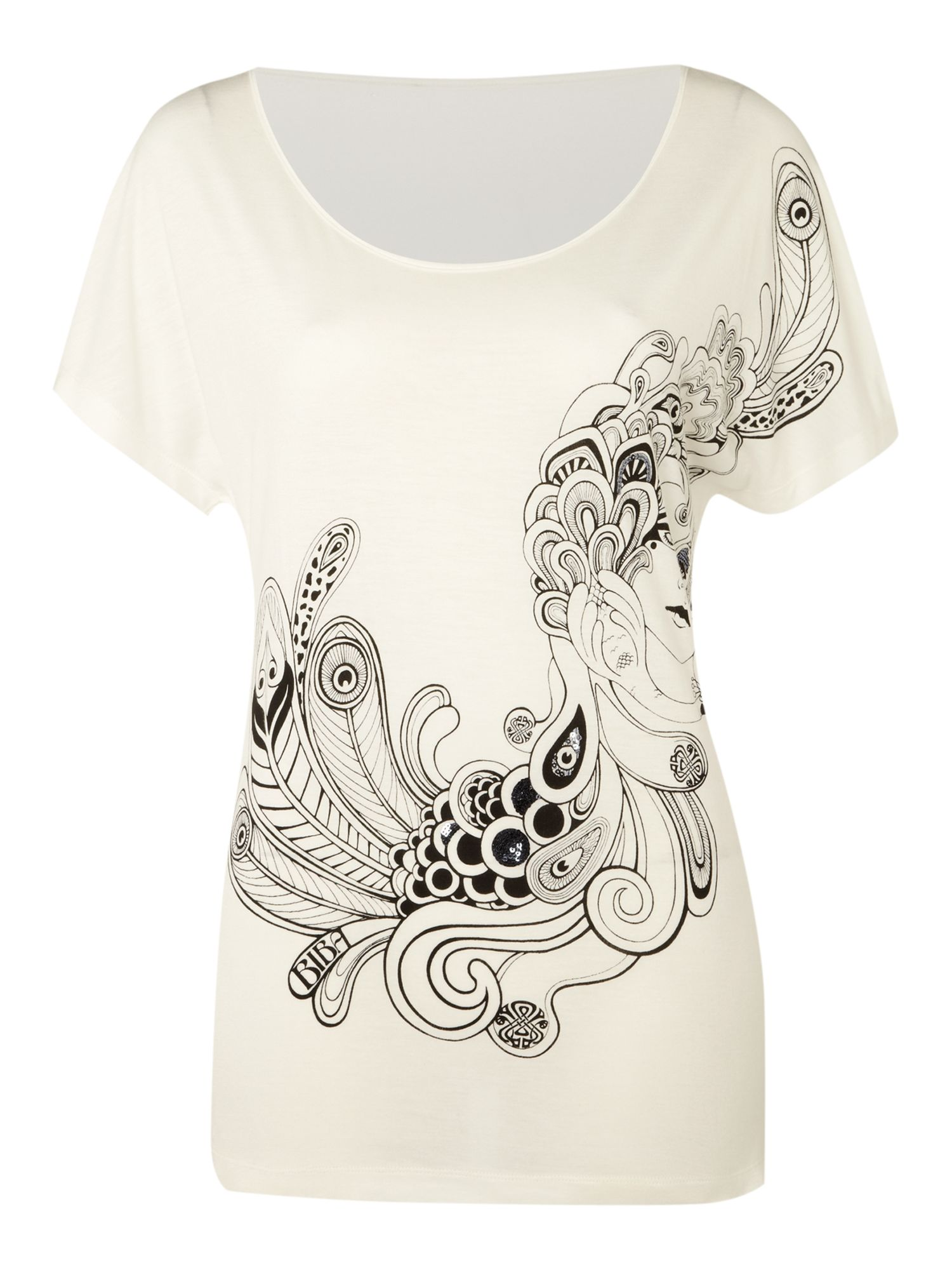Biba Womens Biba Biba girl print t-shirt, White product image