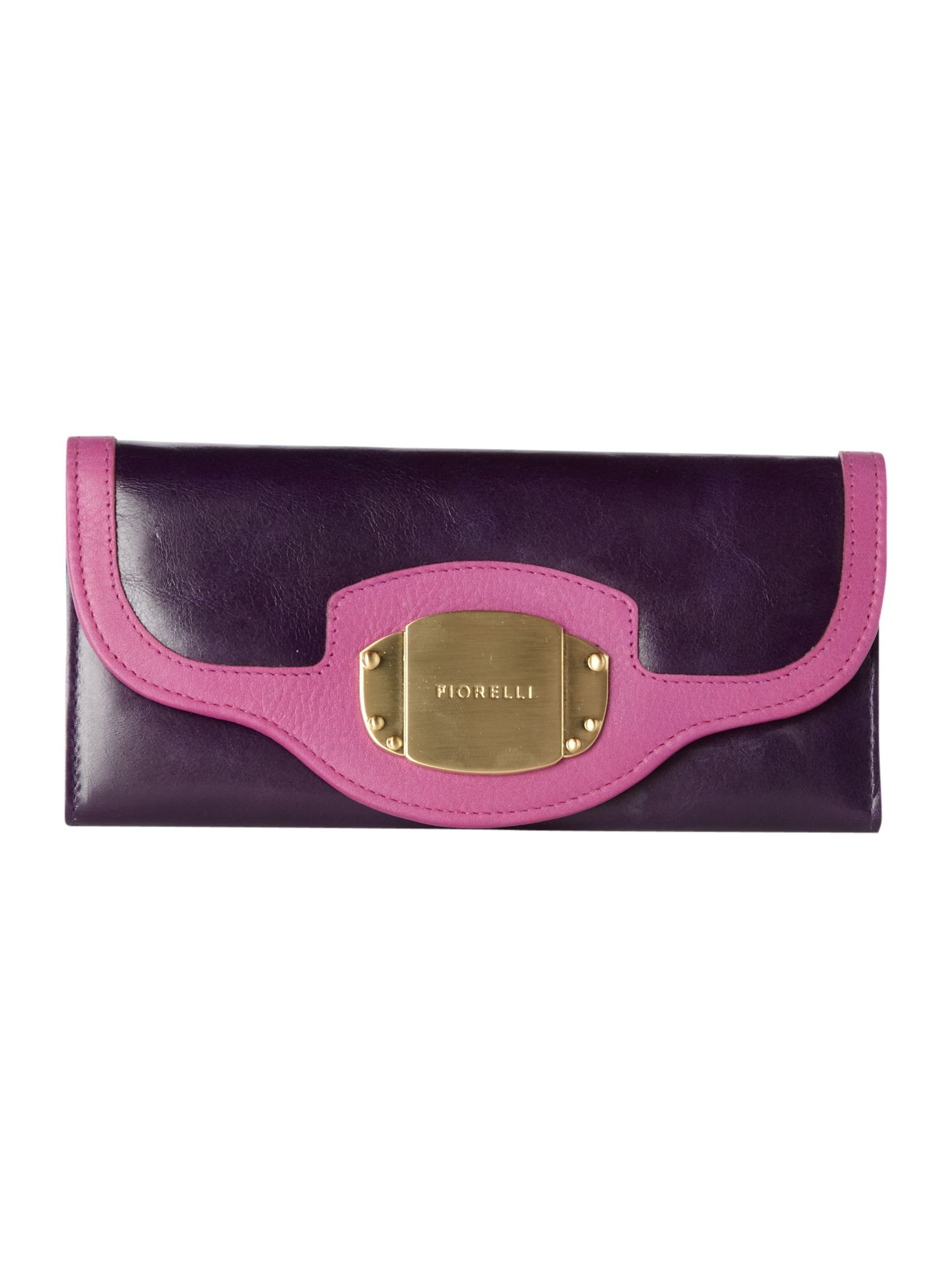 Fiorelli Plate Large Continental Flap Over Purse, Purple