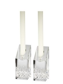 Lismore essence candlesticks 10cm, set of 2