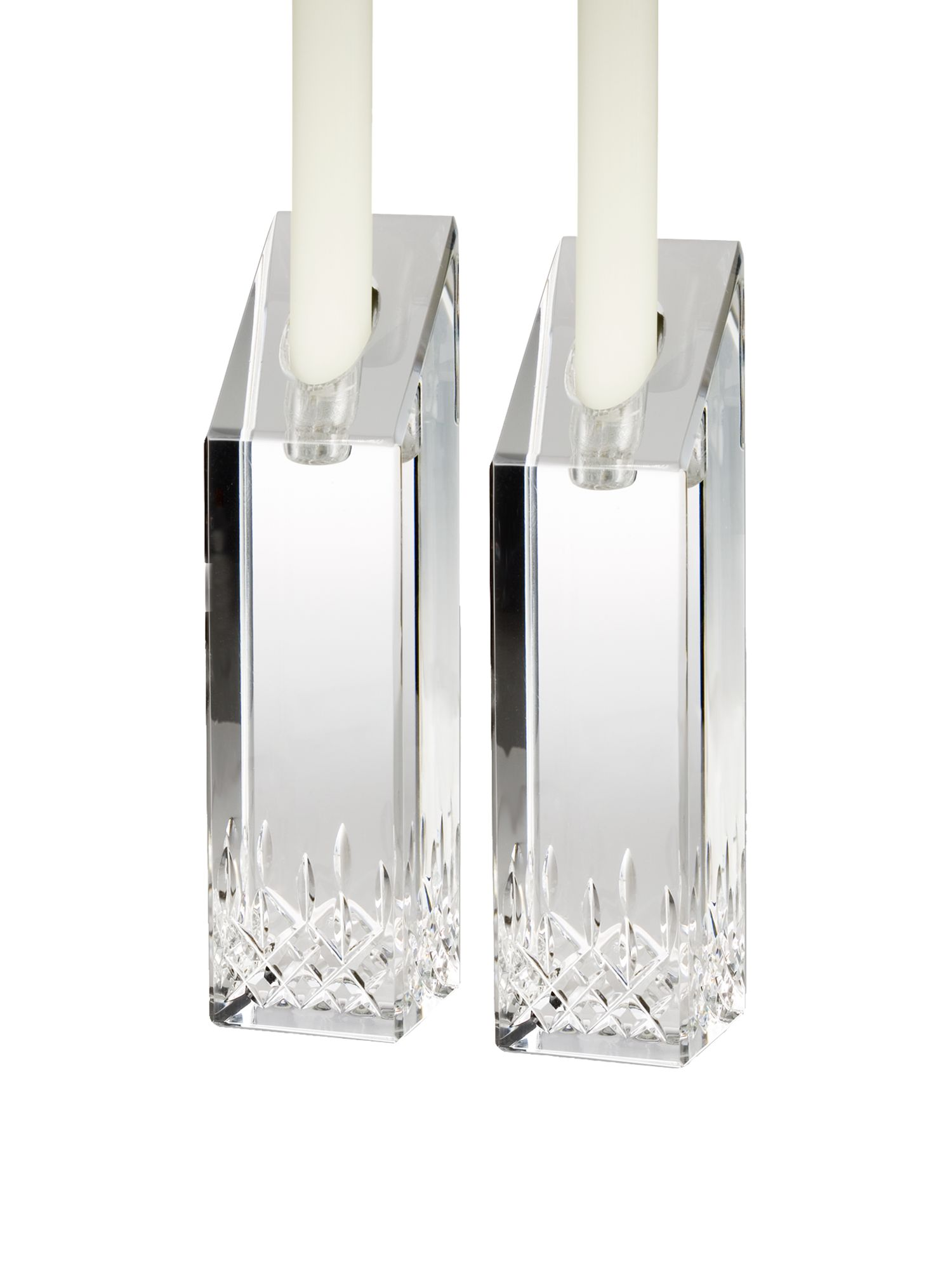 Lismore essence candlesticks 20cm, set of 2