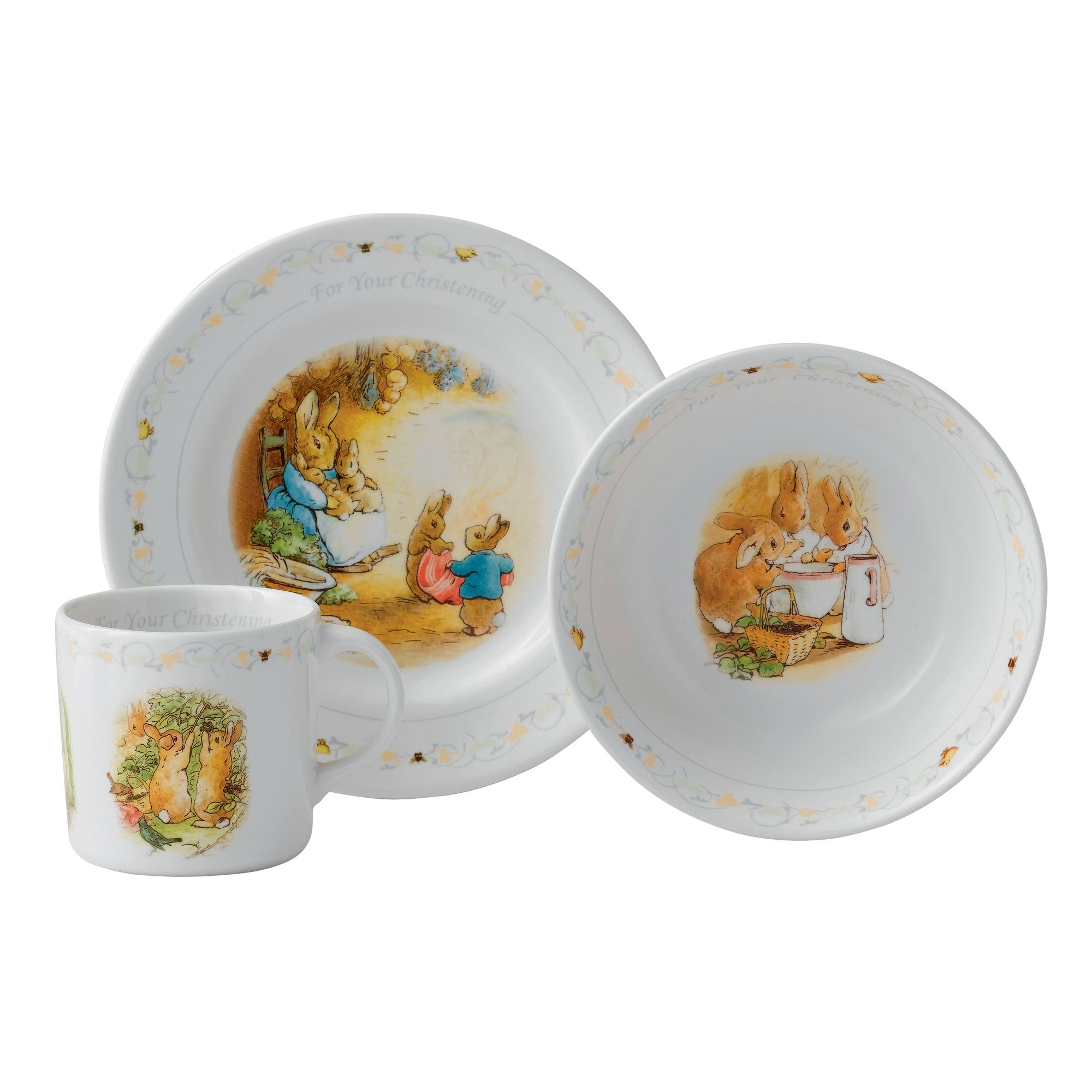Peter Rabbit Christening 3-Piece Set