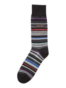 Calvin Klein Sock with barcode multi stripe