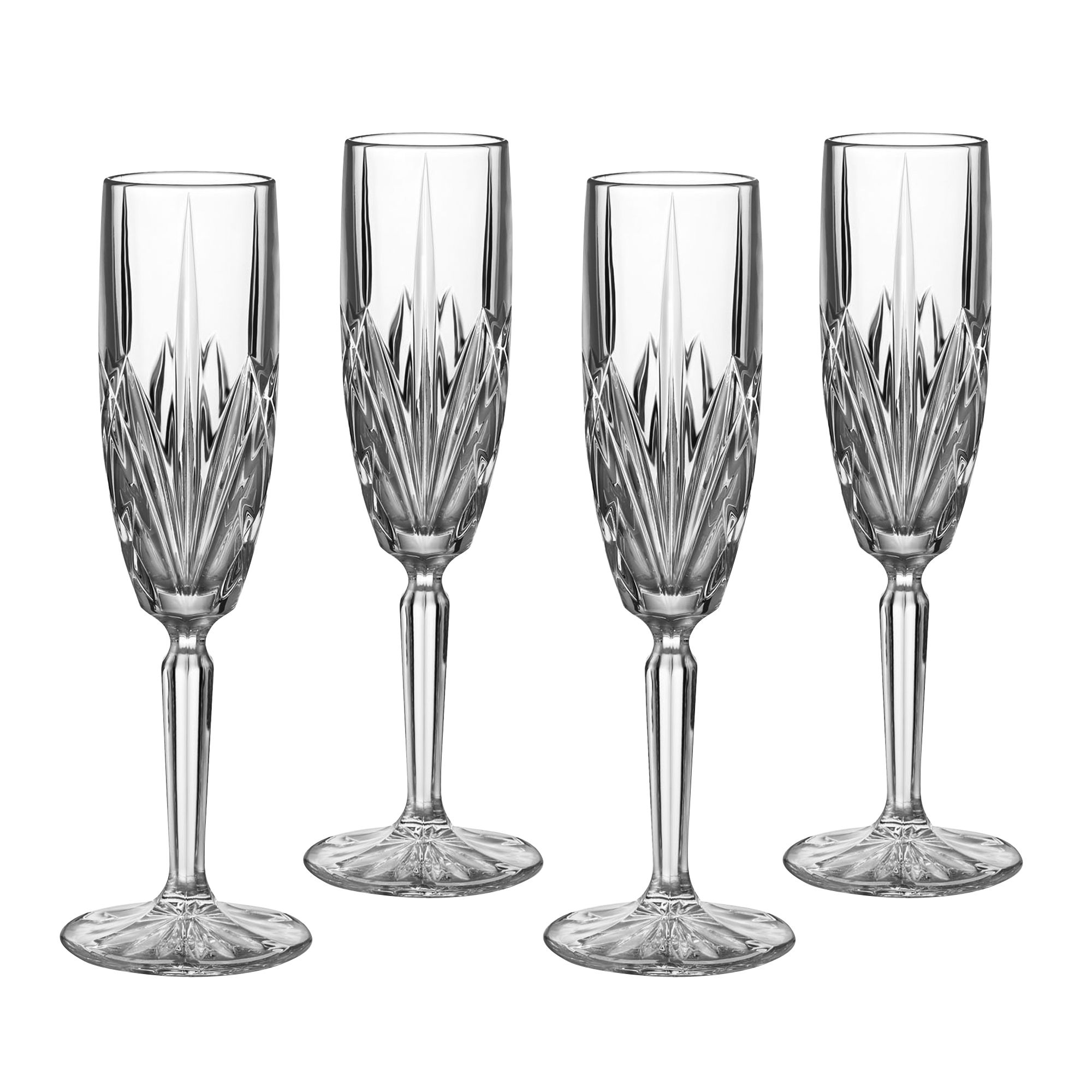 Brookside barware flute set of 4
