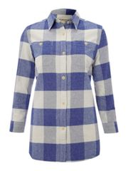 Denim and Supply Ralph Lauren Blue plaid button through shirt