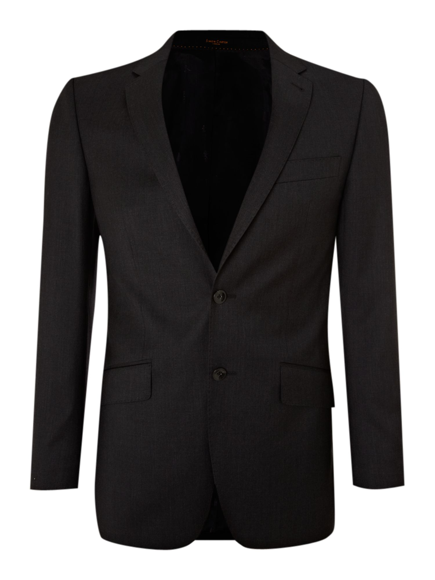 Men's Simon Carter Explorer regular fit suit jacket, Charcoal