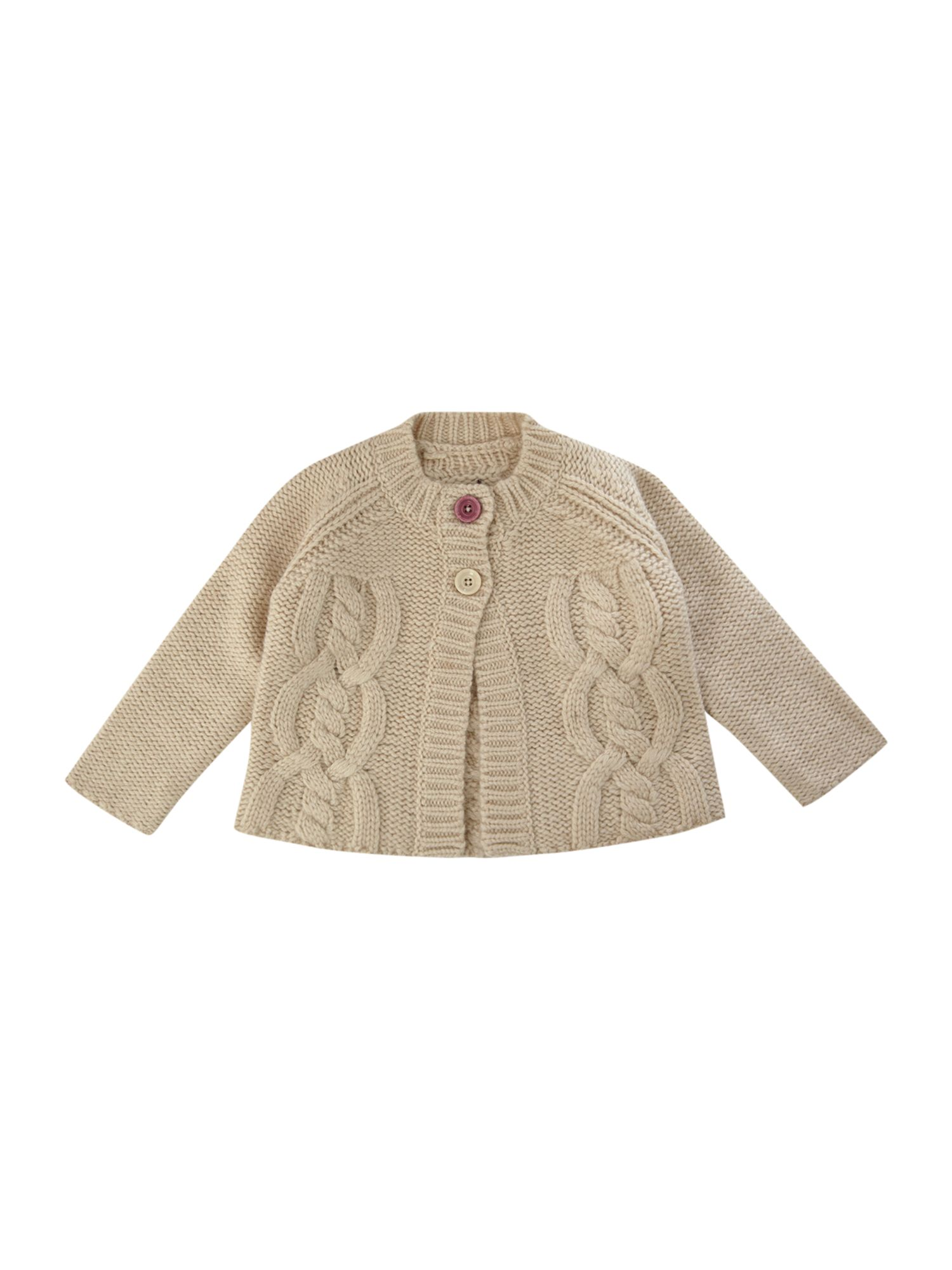 Baby cable knitted cardigan