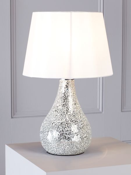 Linea Zara white table lamp