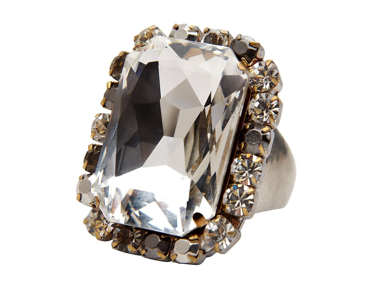 Mimco Liquid Glamour Ring, Jet
