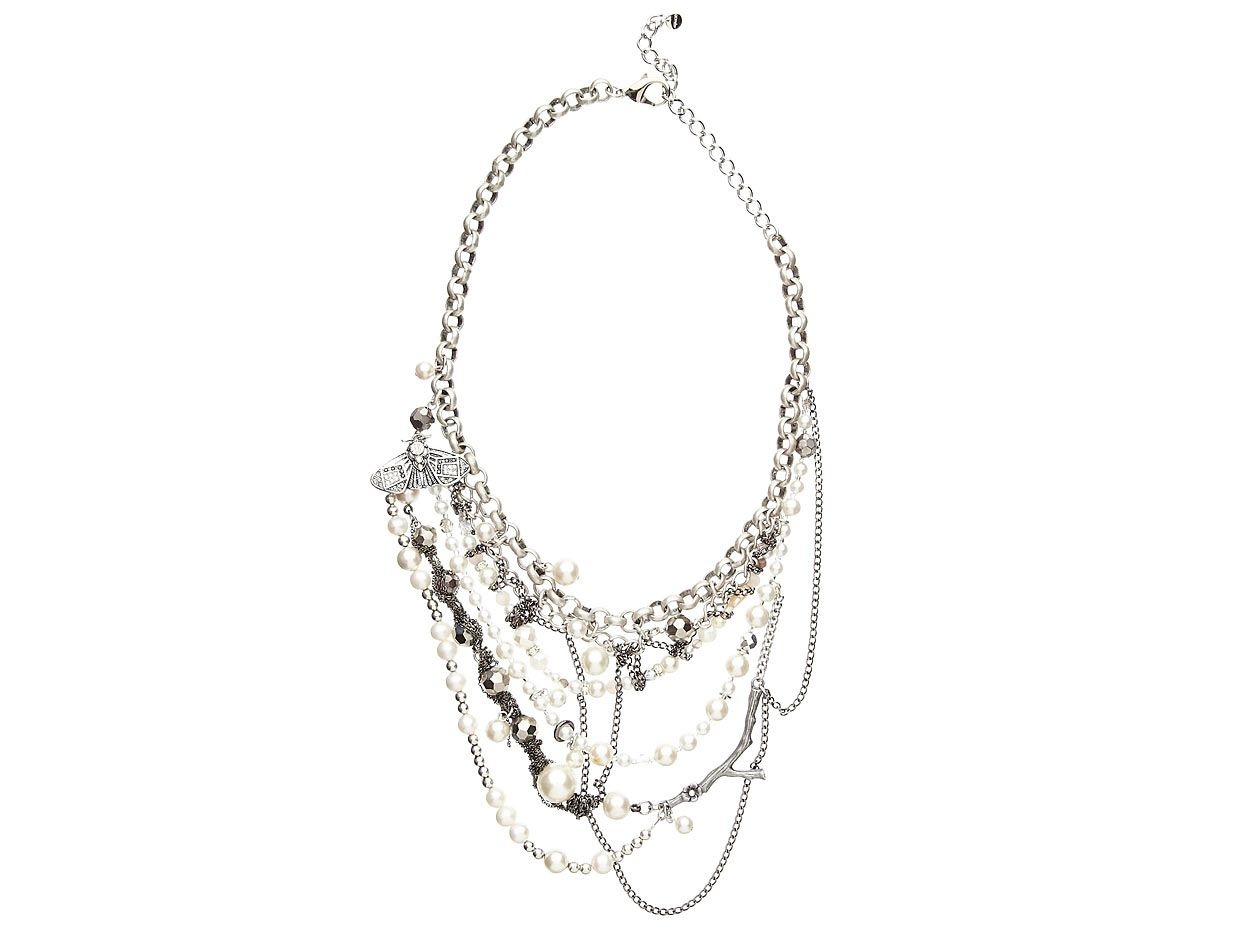 Mimco Diviner Twisted Pearl Necklace