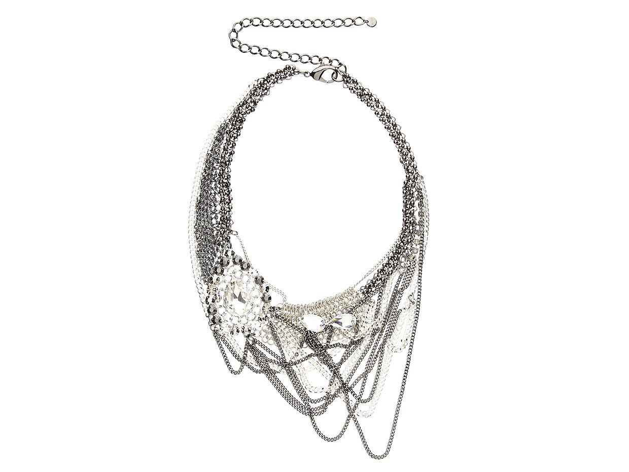 Mimco Crystal Liquid Tangle Necklace