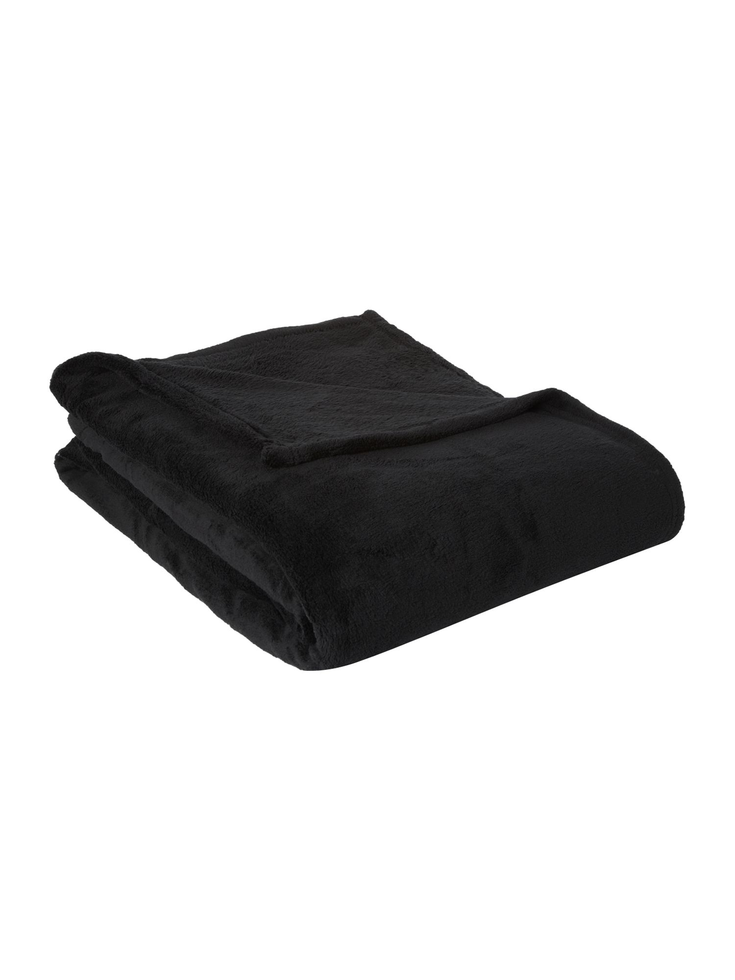 Fleece throw black