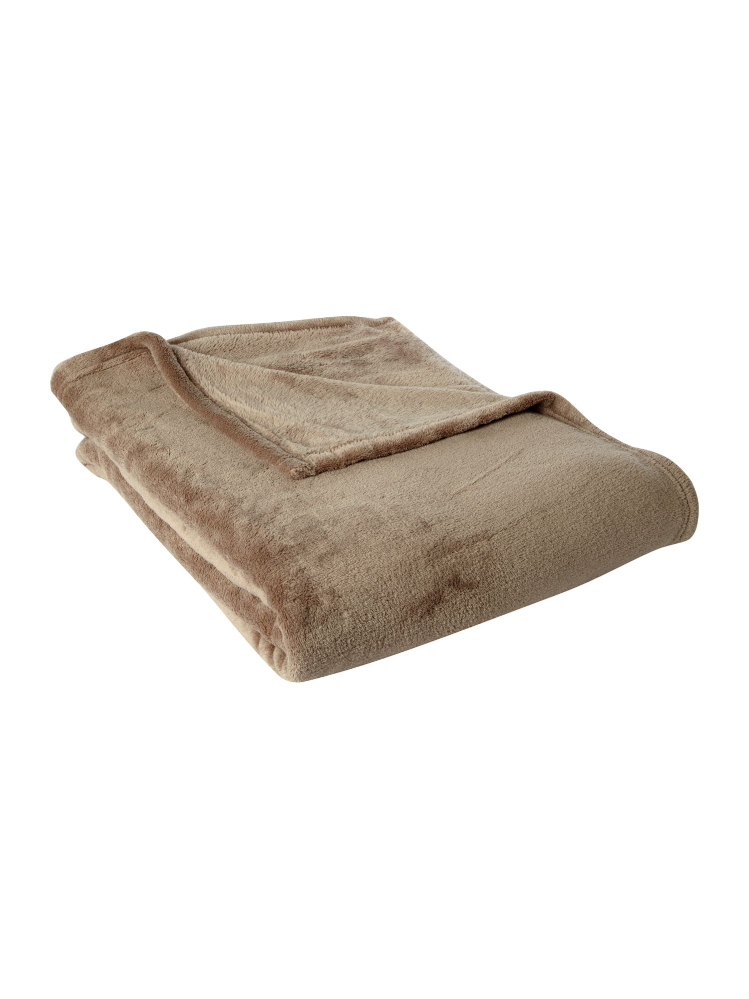 Fleece throw mocha