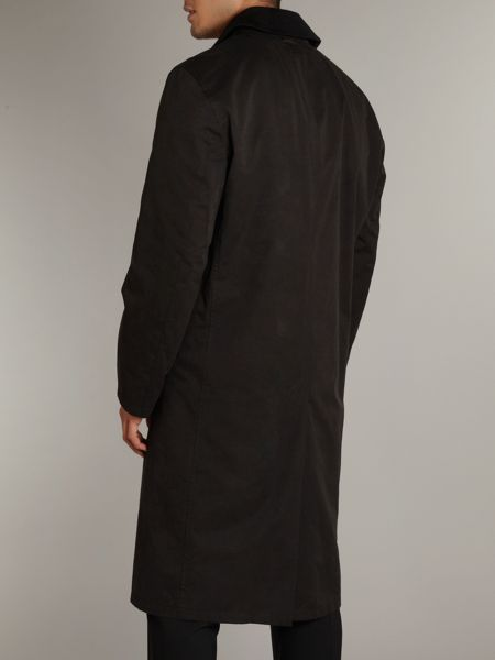 Bugatti Long trench coat with detachable collar