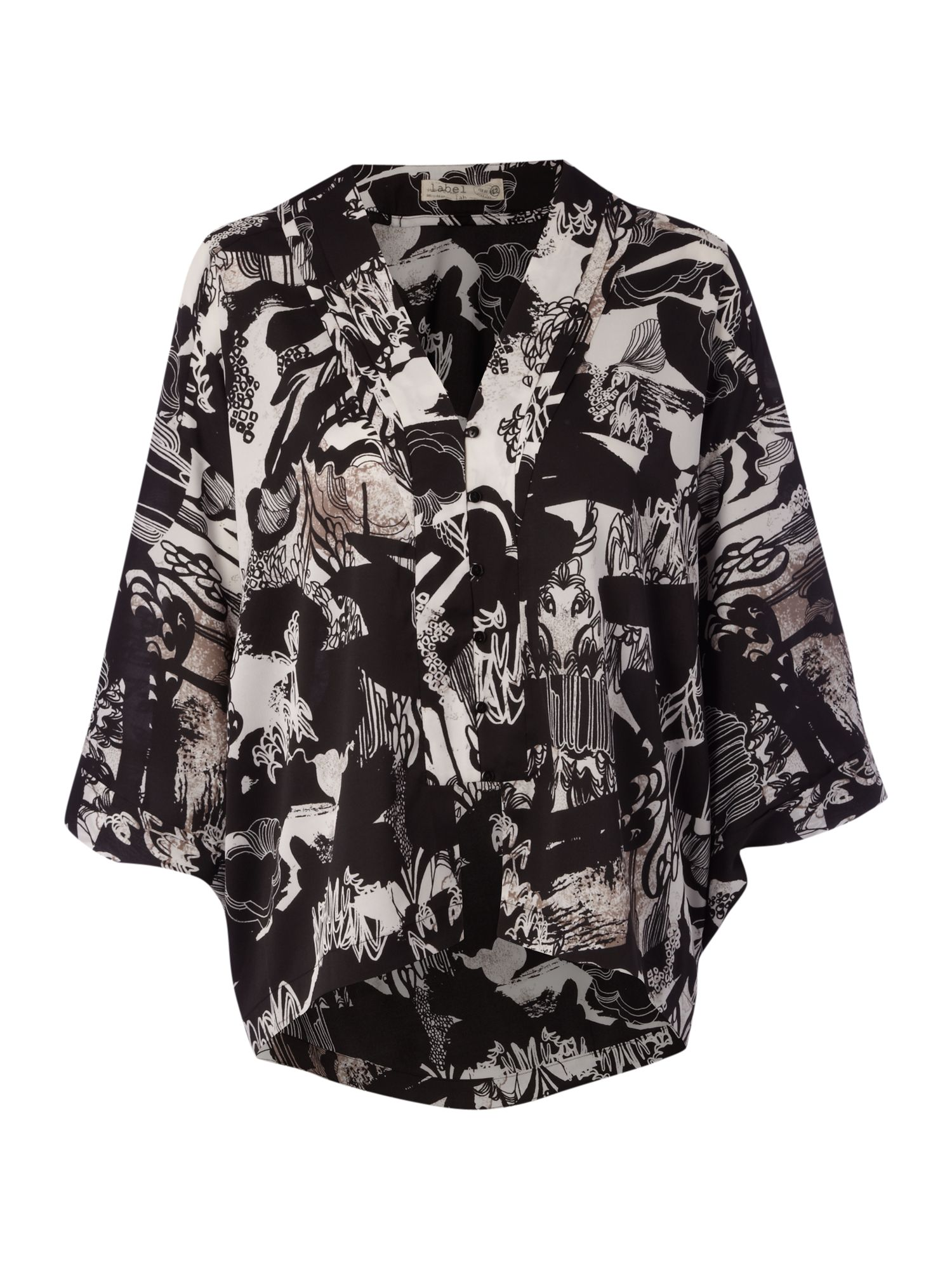 Label Lab Womens Label Lab Printed Kimono Blouse, product image