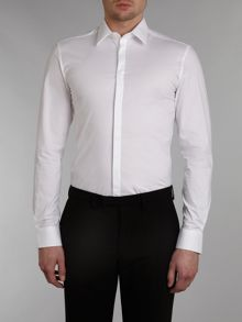 Kenneth Cole Standard stretch Shirt with Concealed Placket