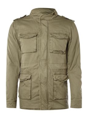 Selected Four pocket military style jacket