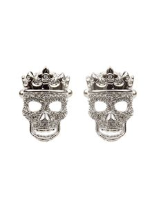Simon Carter Crowned skull cufflinks
