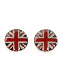 Union jack West end button cufflinks