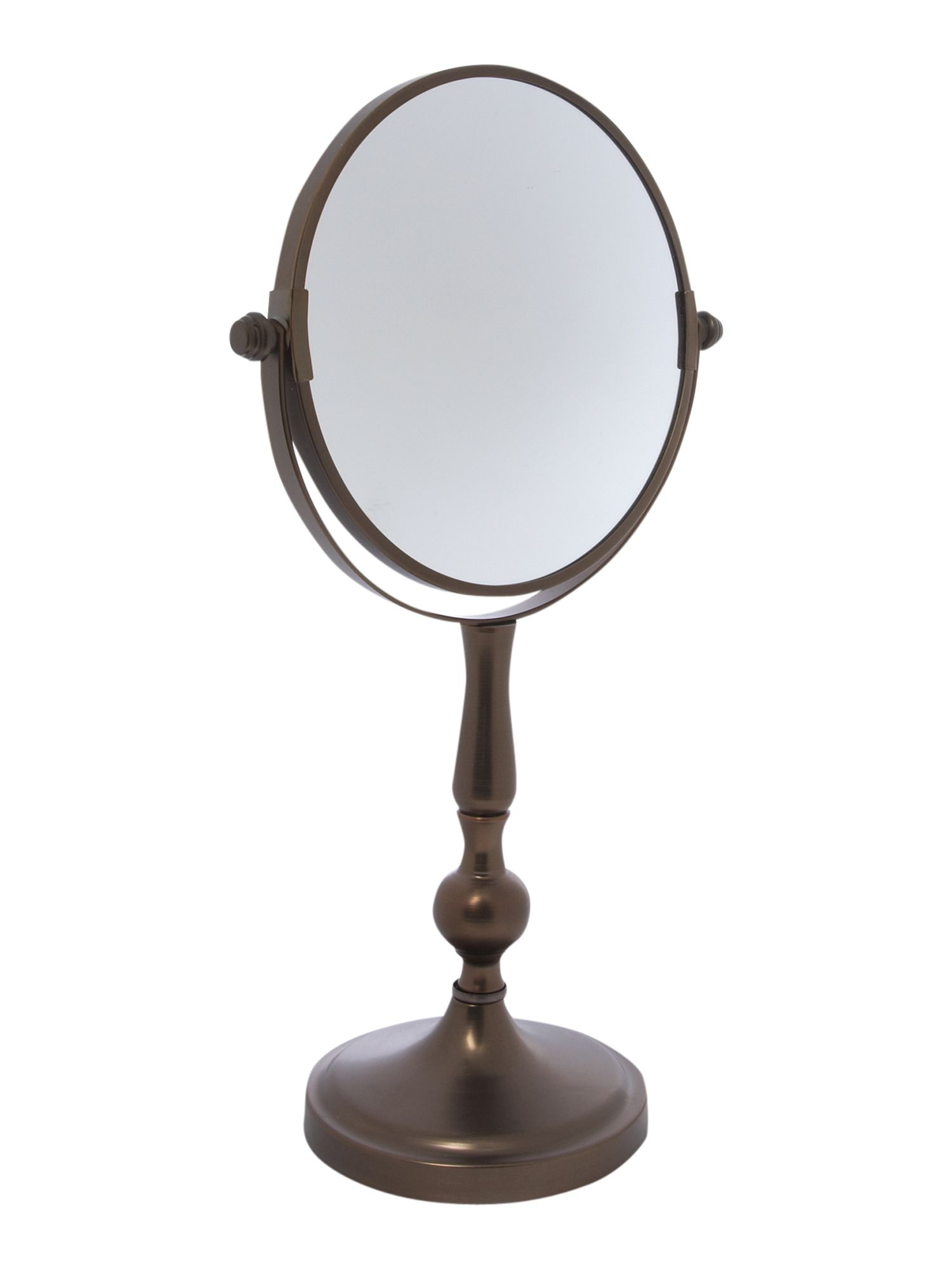 Linea Bronzed Steel Table Mirror In Bronze From House Of
