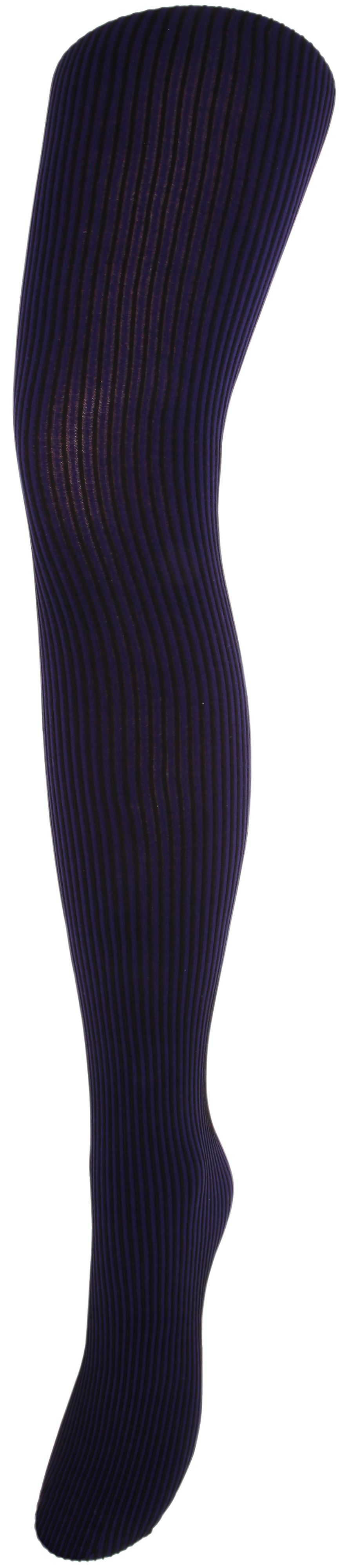 Stripe opaque tights