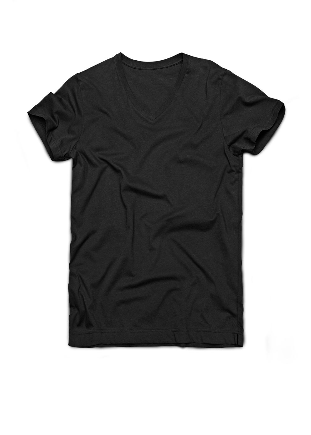 Mango Mens Mango V-neck T-shirt, Black 158402045 product image