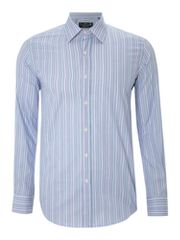 New & Lingwood Wycombe multi stripe formal shirt