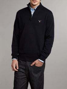 Half zip through jumper
