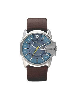 DZ1399 Master chief brown leather men`s watch