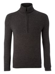 JC Rags Rib zip through jumper