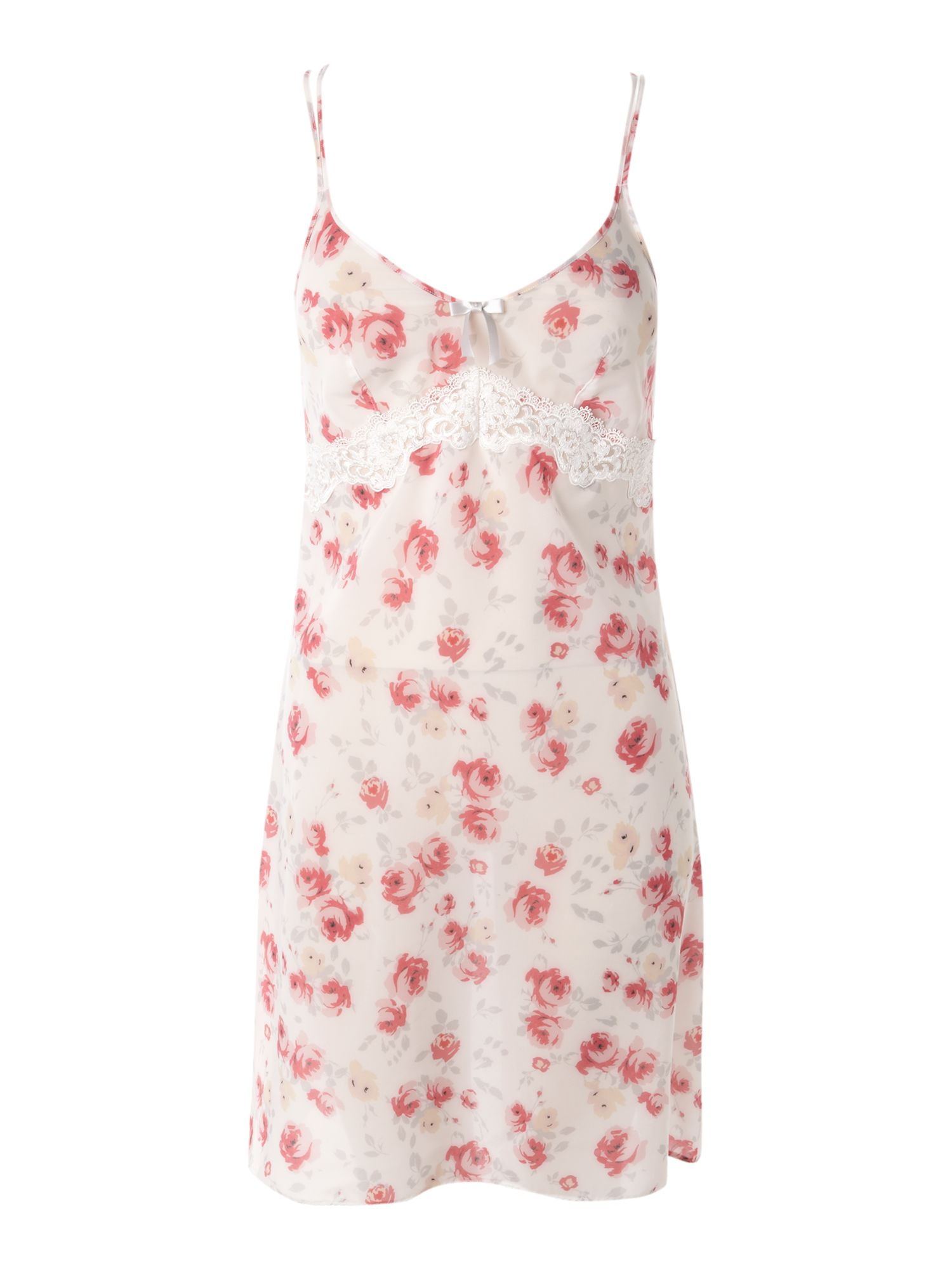 Untold Womens Untold Print and embroidery chemise, product image