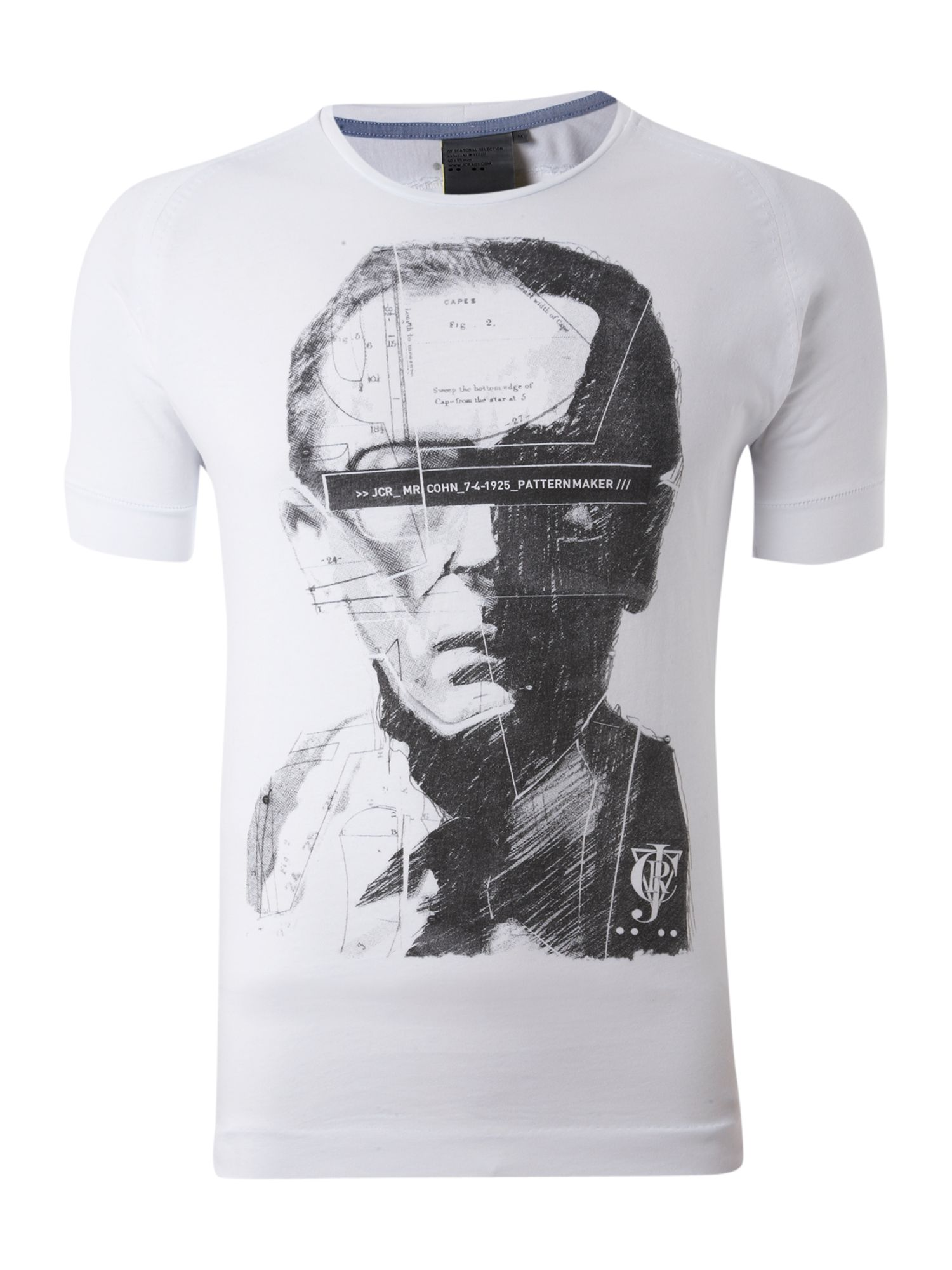 JC Rags Mens JC Rags Face print T-shirt, White product image