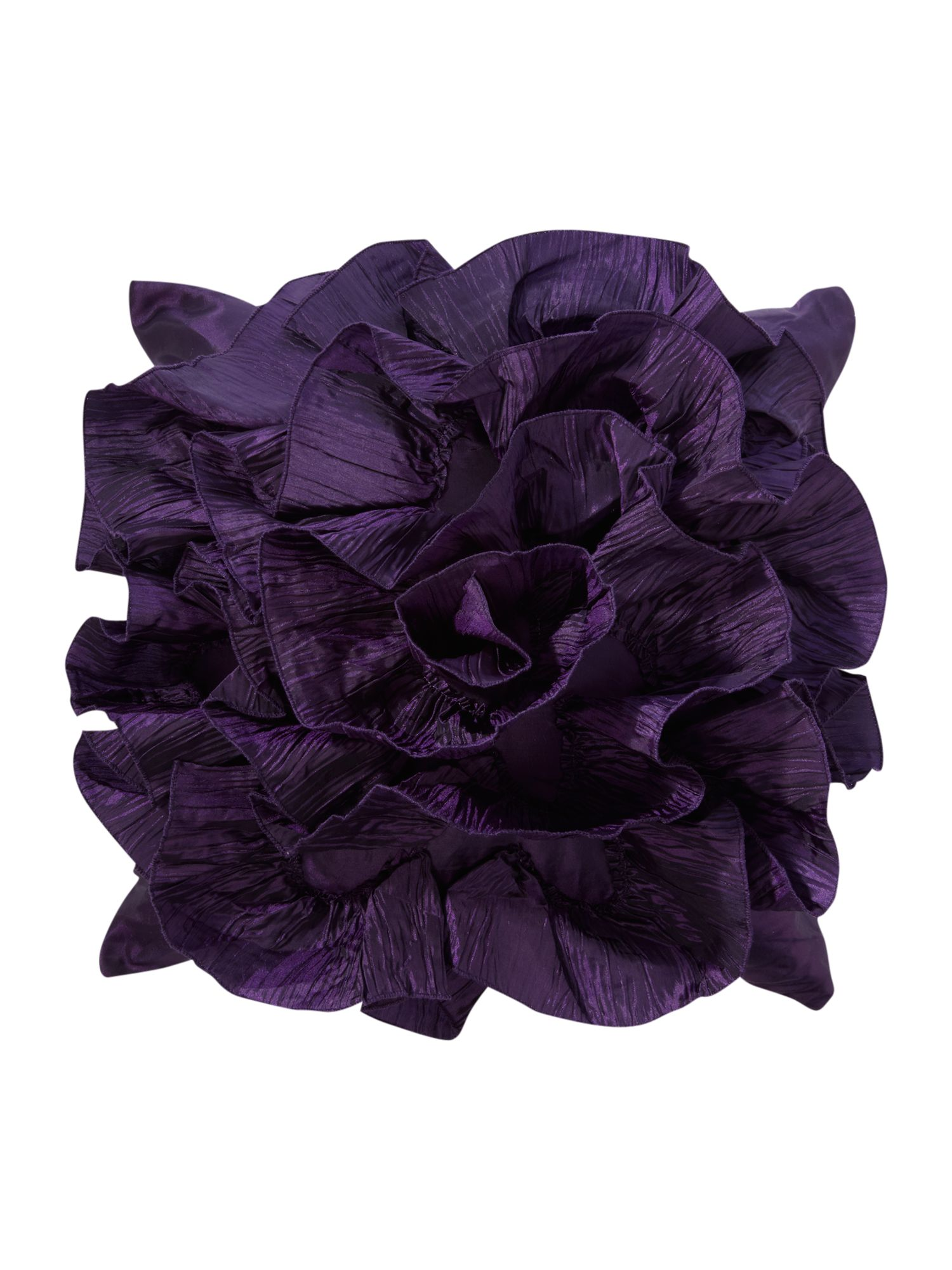 Rosette cushion in plum