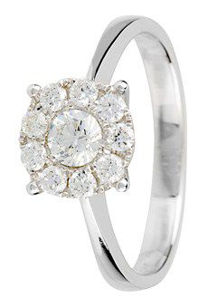 Goldsmiths 18ct Gold 0.50ct Brilliant Cut Diamond Ring, Silver