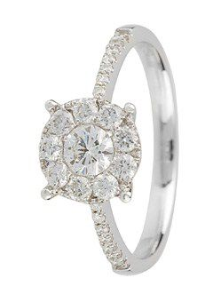 Goldsmiths 18ct Gold 0.60ct Diamond set Ring, Silver