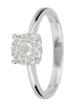 Goldsmiths 18ct Gold 0.30ct Solitaire Diamond Ring, Silver