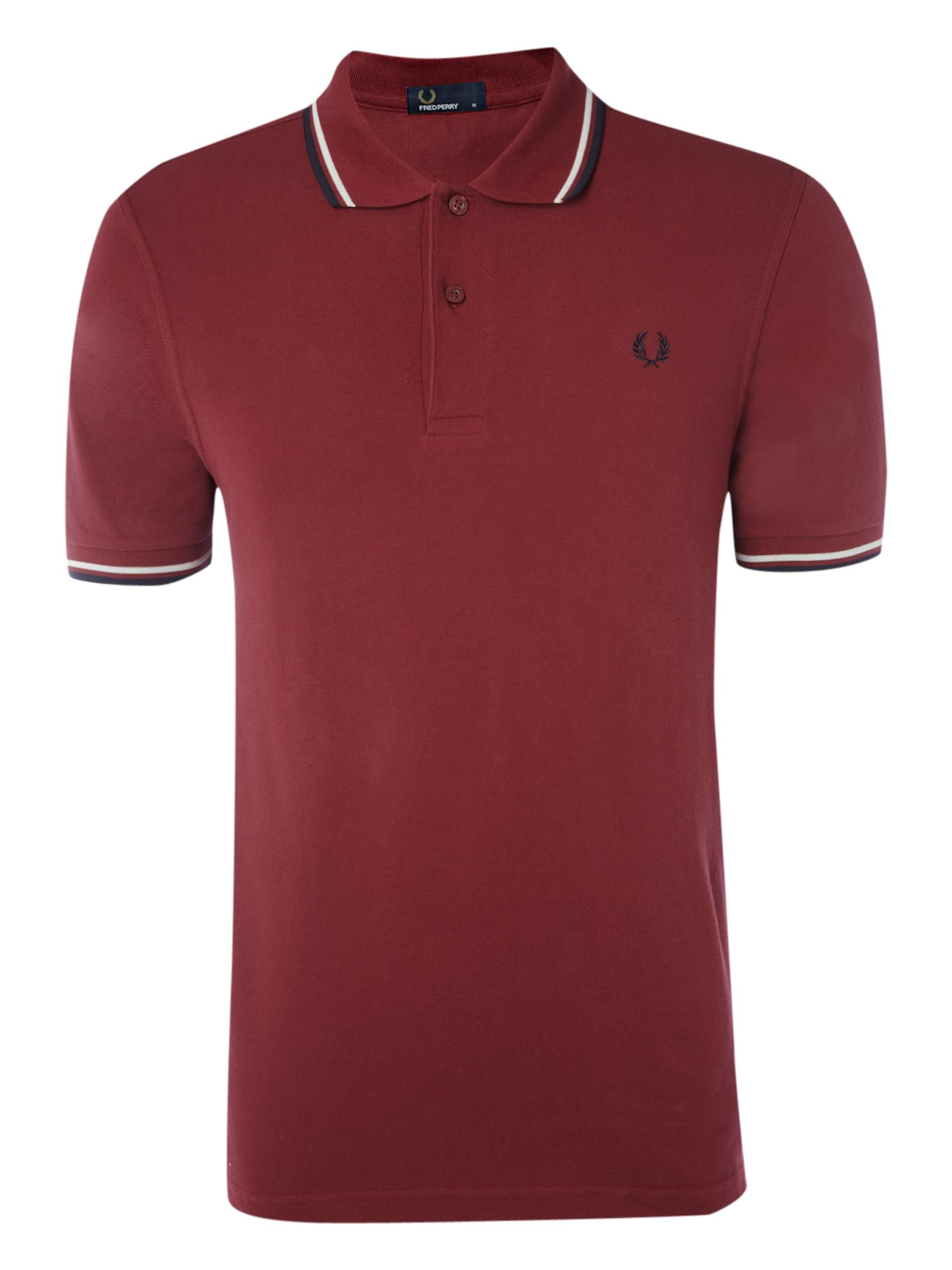 Men&39s Fred Perry Slim fit twin tipped polo shirt Maroon