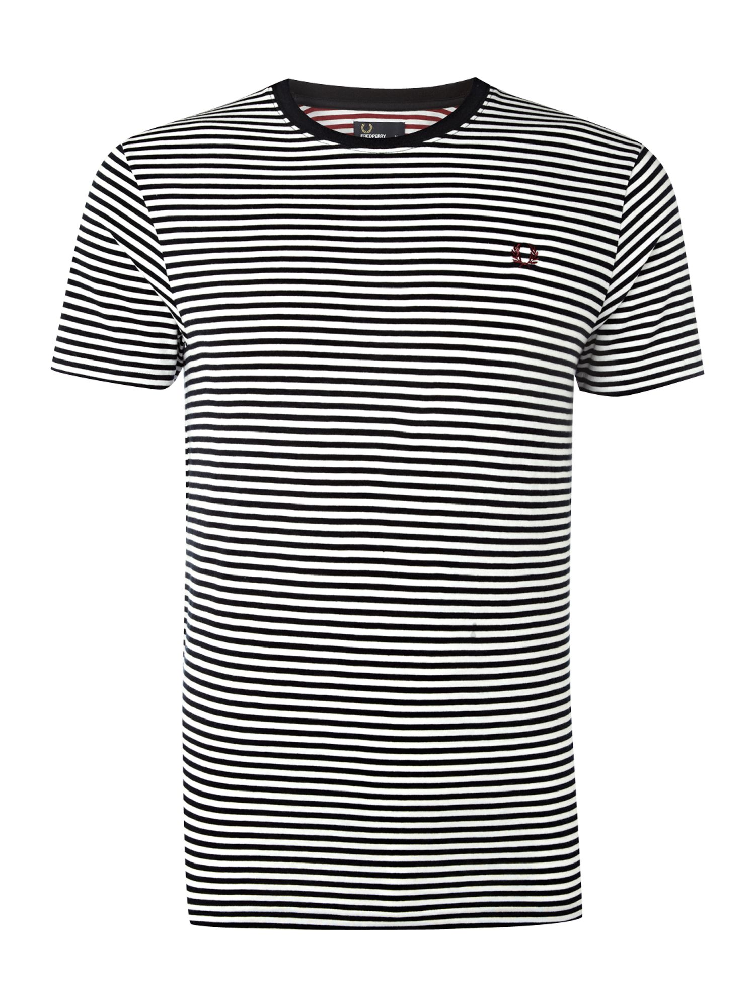 Fred Perry Mens Fred Perry Sharp stripe T-shirt, Navy product image