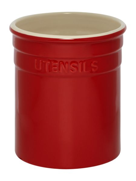 Linea Maison utensil pot, red