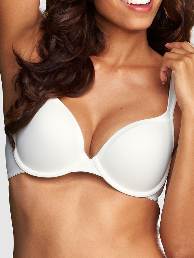 Bodique Satin ts padded t-shirt bra, White product image