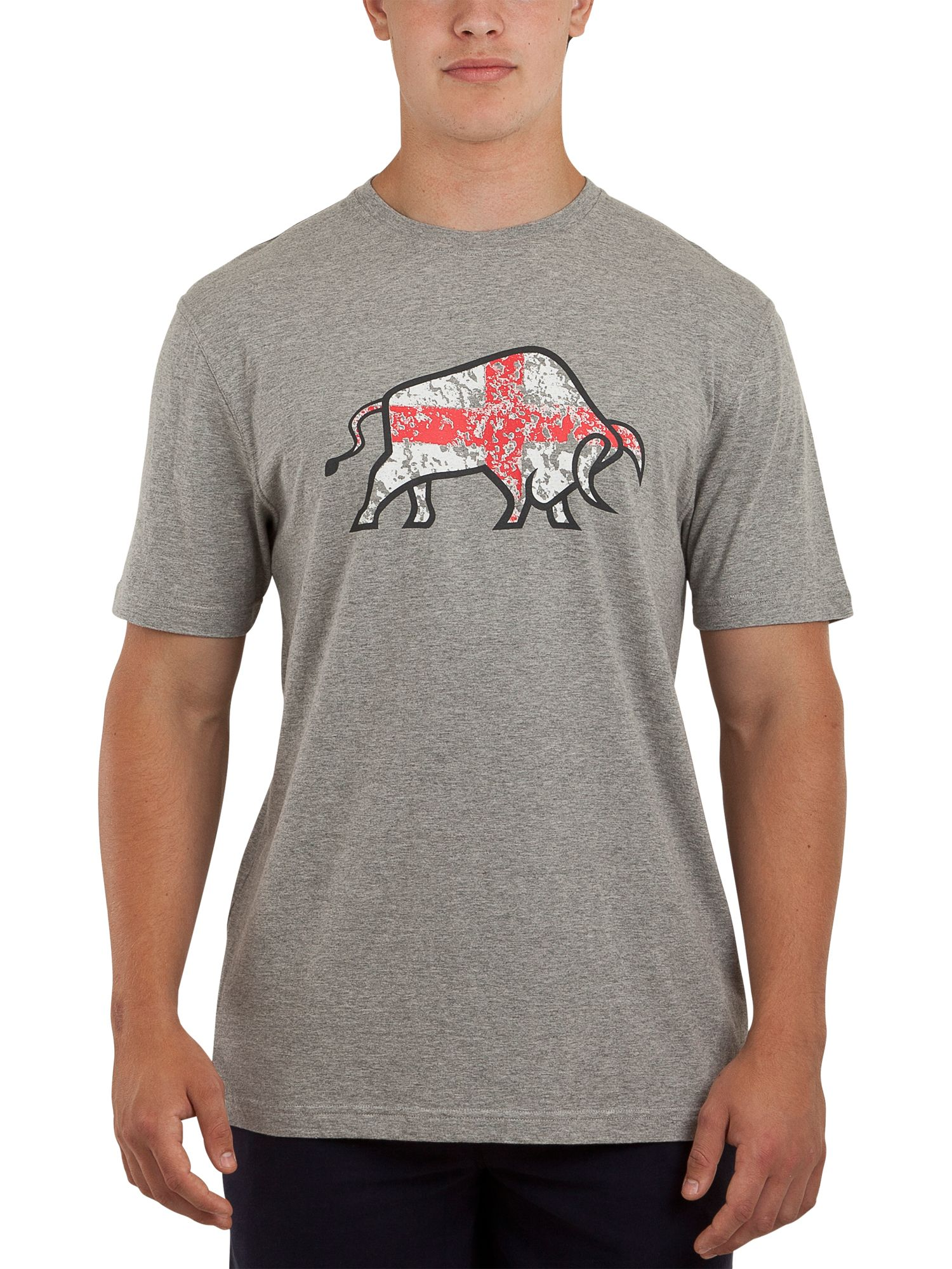 Raging Bull Mens Raging Bull St george flag T-shirt, product image